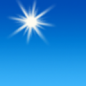 Today: Sunny, with a high near 58. North wind 5 to 10 mph, with gusts as high as 20 mph.